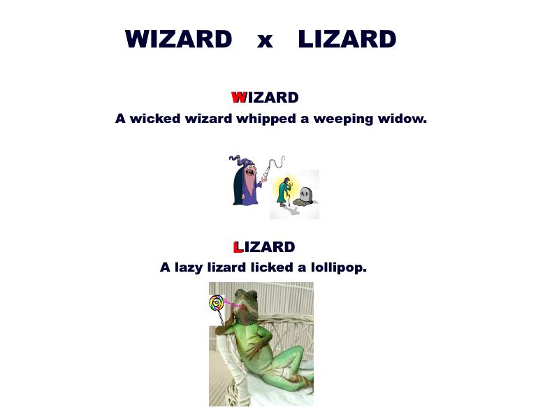 Minimal Pairs: Wizard vs Lizard